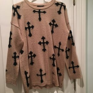Ripped Cross Sweater